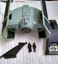 star wars action fleet TiE advanced with darth vader fighter pilot & stand