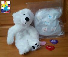 """Polar Bear """"Tundra"""" Build A Buddy Stuffed Animal Teddy Mountain"""