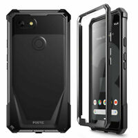 Poetic Shockproof Case For Google Pixel 3 Cover with Screen Protector Black