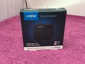 Crucial X6 Portable SSD 2TB (CCT2000X6SSD9) — New/Sealed