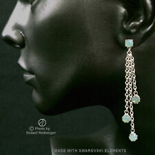 Earrings with 4 Swarovski Crystals Colour: Pacific Opal