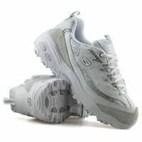 Womens Skechers D'Lites Memory Foam Casual Leather Walking Trainers Shoes Size