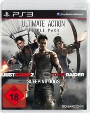 Playstation 3 Ultimate Action Triple Pack Tomb Raider Just Cause 2 Sleeping Dogs