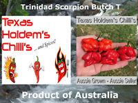 10 x Trinidad Scorpion Butch T chilli chili seeds. 1.4 Million Scovilles EXTREME