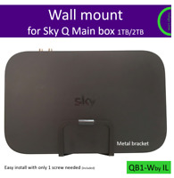 Sky Q 1TB 2TB wall bracket mount. 1 screw easy install. Made of metal in the UK