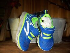 ATHLETIC WORKS BOY TODDLERS ATHLETIC SHOES SIZE 8 COLOR BLUE GREEN CASUAL SHOES