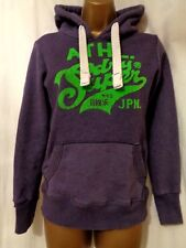 SUPERDRY Limited Edition Purple Hoodie Sweatshirt SIZE XS