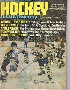 1972 Hockey Illustrated magazine Gil Perreault Buffalo Sabres vs Seals POOR/FAIR