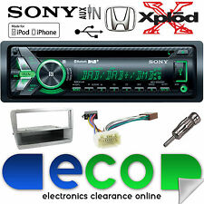 Honda Civic EP2 Sony CD MP3 DAB Bluetooth Car Stereo & SILVER Fascia Fitting Kit