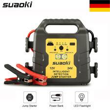24000mAh 12V 24V AUTO Starter Batterie Ladegerät Booster Schnellstart Starthilfe