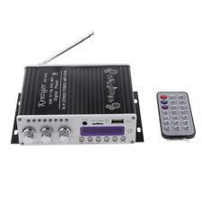 Outdoor Music Audio AMP Amplifier 2CH 200W Bluetooth/FM HiFi Black for Car
