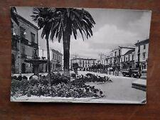 Vecchia foto cartolina d epoca di Bitonto piazza Marconi giardini fontana da per