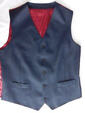 Mans blue wool waistcoat Charles Tyrwhitt chest size 42 slim fit NEW imperfect
