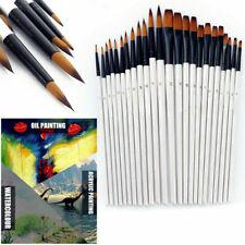 HOT12pcs Artist Paint Brushes Set Acrylic Oil Watercolour Painting Craft Art-Kit
