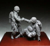 1:35 Resin Figure WWII Winter US Paratroopers 2 soldiers Unpainted Kit