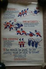 More details for vintage british army third reich industrial poster ministry of labour original