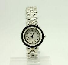 "Ecclissi Sterling Silver Panther Link Quartz Analog Wrist Watch 7.5"" 31680"