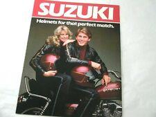 VINTAGE SUZUKI PARTS MOTORCYCLE GENUINE FACTORY HELMET BROCHURE RM GS