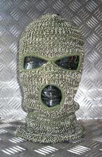 Brand New Three (3) Hole Balaclava / Beanie Hat - Very Warm - Green Camouflage