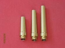 3 pc Treso Black Powder Flask Spout Set 15, 20 & 25 grain spouts Muzzleloading