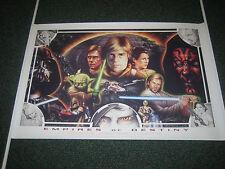 Star Wars CIII Celebration III 3 Rare Monte Moore Empires of Destiny Print Art