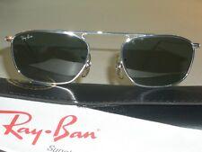 1990's VINTAGE B&L RAY BAN W2002 SILVER DESIGN WIRE G15 AVIATOR SUNGLASSES NEW