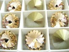 6 Silk Foiled Swarovski Crystal Rivoli Stone 1122 12mm