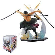 "Cool JP Anime One Piece RORONOA. ZORO Battle Ver.17cm/6.7"" PVC Figure New In Box"