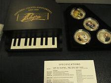 2009 ANDORRA 8 x 5 DINARS - PIANO CHOPIN SET - 8 COINS SILVER PROOF Silber