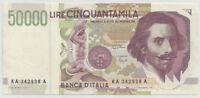 """REPUBBLICA ITALIANA - 50000 Lire """"Bernini 2° tipo"""" serie A  FDS"""