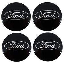 Black Ford Fits Most Models 54mm Alloy Wheel Centre Caps
