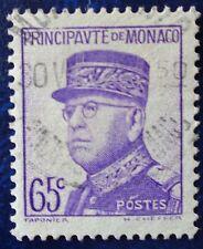 Monaco oblitéré, n°160, 65c violet, Louis II, 1937