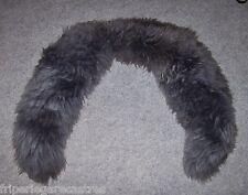 Très grand COL épais en fourrure, gris, longueur 105cm ! --- (CF_033)
