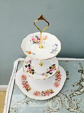 Cake Stand 3 Tier China Floral Vintage Shabby Chic Wedding Tea Party