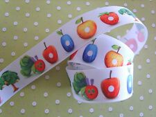 """1 M x The Very Hungry Caterpillar Grosgrain Ribbon Craft Bow Cake 25mm(1"""")"""