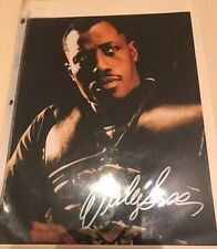 Authentic Wesley snipes handsigned blade Autograph pic 10x8 With COA