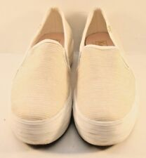 Keds Gold Striped Canvas Slip On Fashion Sneakers Womens Size US 6M