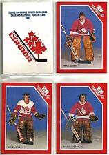 1993 Canadian Junior Team 21-card postcard set   Steve Yzerman  Mario Lemieux ++