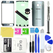 Silver Samsung Galaxy S6 Edge+ G928 Front Screen Glass Back Replacement Pro Kit