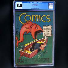 COMICS #4 (DELL 1937) 💥 CGC 8.0 OW 💥 SCARCE - HIGHEST GRADED COPY!