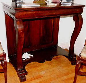 "PIER TABLE, Thomas Day, North Carolina, Empire, c1840, solid walnut, 37""w"