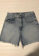 Vintage 90s LEI Riding Wear Jean Shorts Size Medium Raw Hem