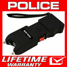Police Stun Gun Tw10 650 Bv Heavy Duty Rechargeable Led Flashlight Siren Alarm