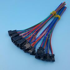 10Pairs JST SM 3Pin 15cm Male and Female 22AWG LED Strip Wire Connector