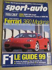 SPORT AUTO: n°446: 03/99: GUIDE F1 1999 - FERRARI 360 - PORSCHE 356C - BMW M5