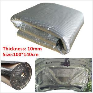 10mm Car Sound Deadener Insulation Noise Proofing Heat Shield Foam Mat 1M x 1.4M