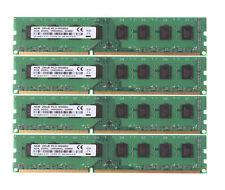 4x 4GB PC3-8500U 2Rx8 Desktop Memory DIMM RAM DDR3 1066Mhz 240PIN Intel CPU @4H