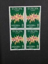 MOMEN: ANDORRA CEPT # 1972 MINT OG NH $600 BLOCK LOT #4065