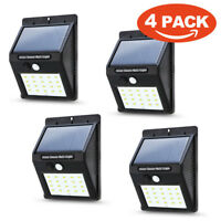 Waterproof LED Solar Power PIR Motion Sensor Wall Light Outdoor Yard Garden Lamp