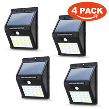 Waterproof LED Solar Power PIR Motion Sensor Wall Light Outdoor Yard Garden Lamp